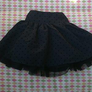 Puffy Black Polka-dot skirt